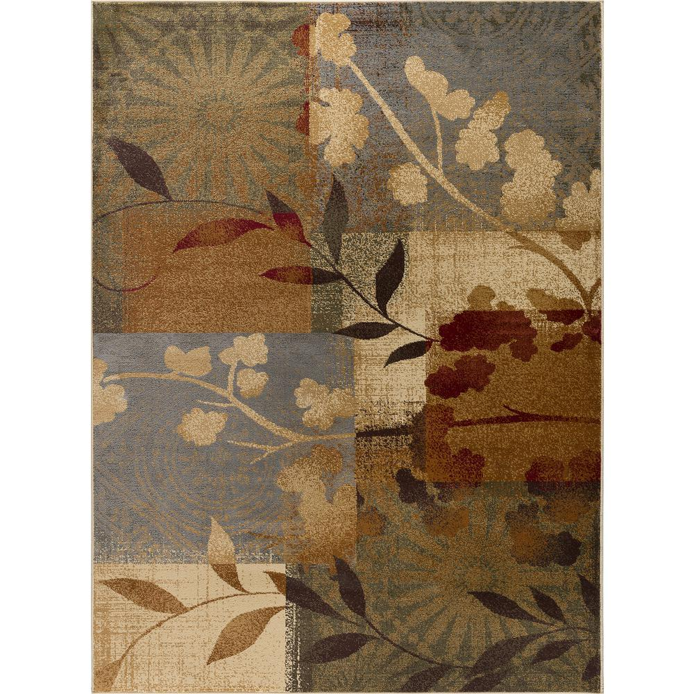 tayse rugs impressions blue 8 ft x 10 ft transitional area rug