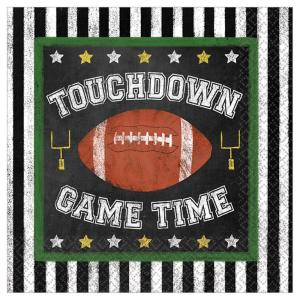 Amscan Football Game Time 5 In X 5 In X 0 1 In Multi Color Paper Beverage Napkins 3 Pack 701889 The Home Depot
