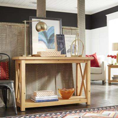 Country Lodge Pine Console Table