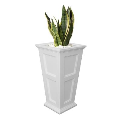Self-Watering Fairfield 16 in. Square White Plastic Column Planter