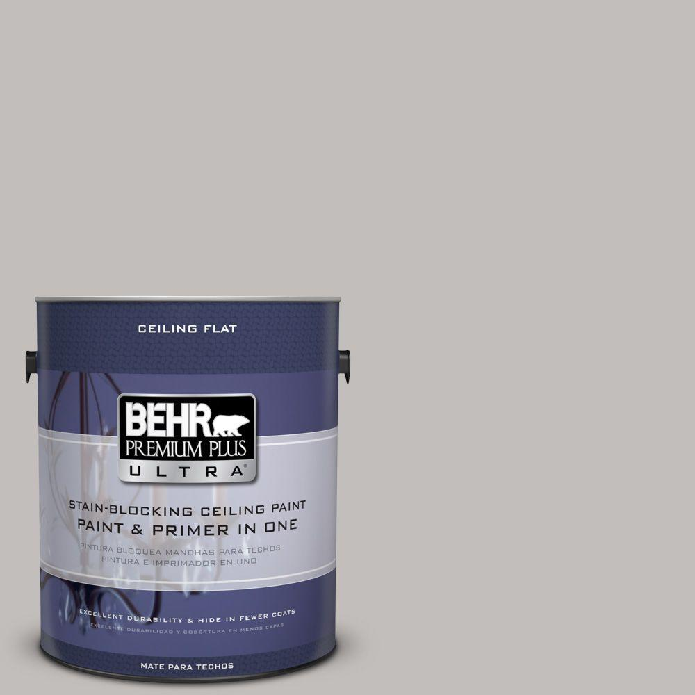 BEHR Premium Plus Ultra 1-Gal. No.UL260-11 Ceiling Tinted to Natural Gray Interior Paint