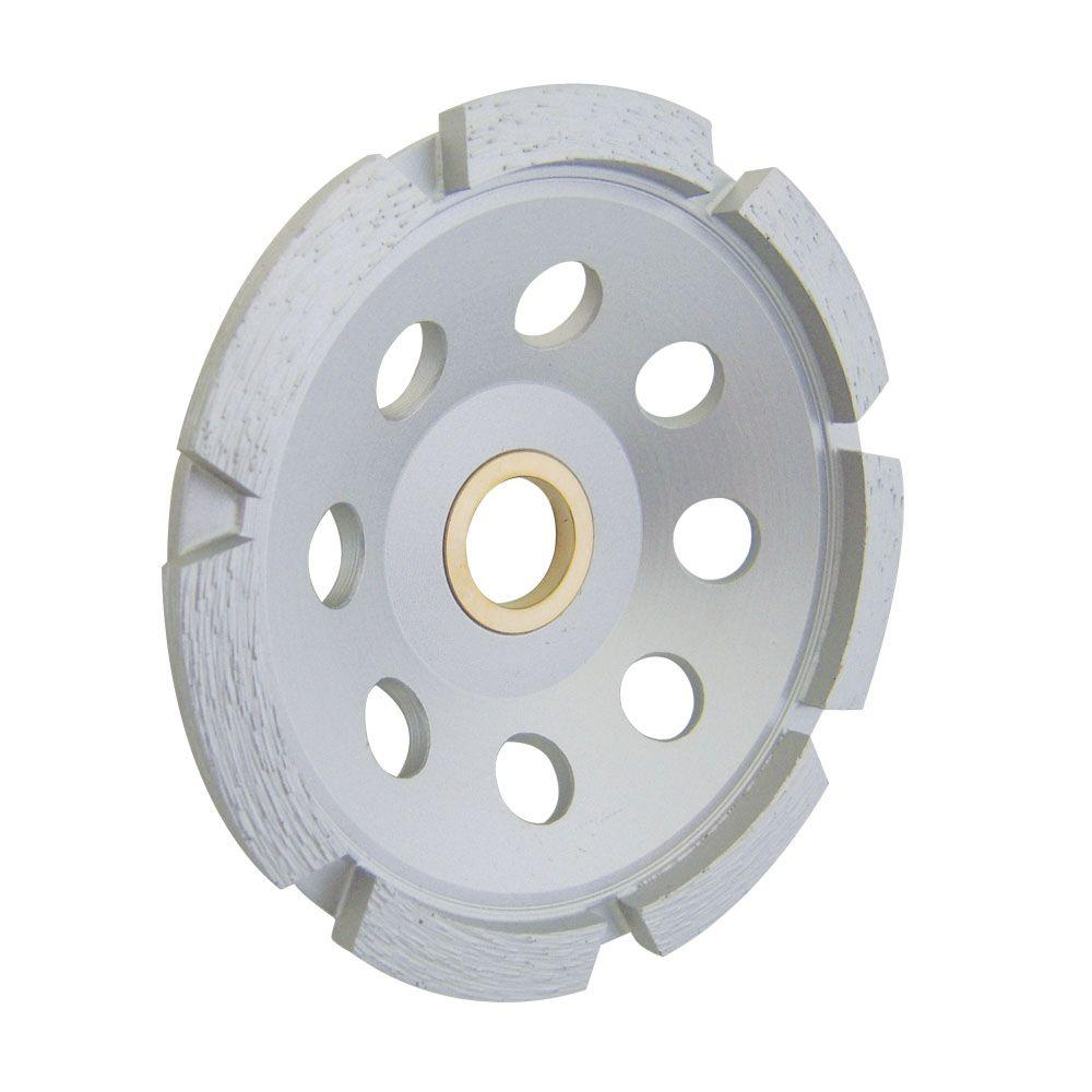 4 in. 1-Row Cup Wheel with 7/8 in. Arbor