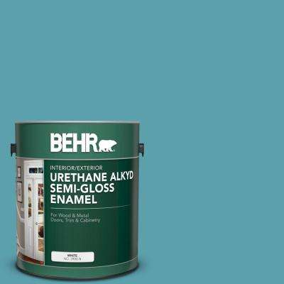 1 gal. #BIC-53 Turquoise Urethane Alkyd Semi-Gloss Enamel Interior/Exterior Paint