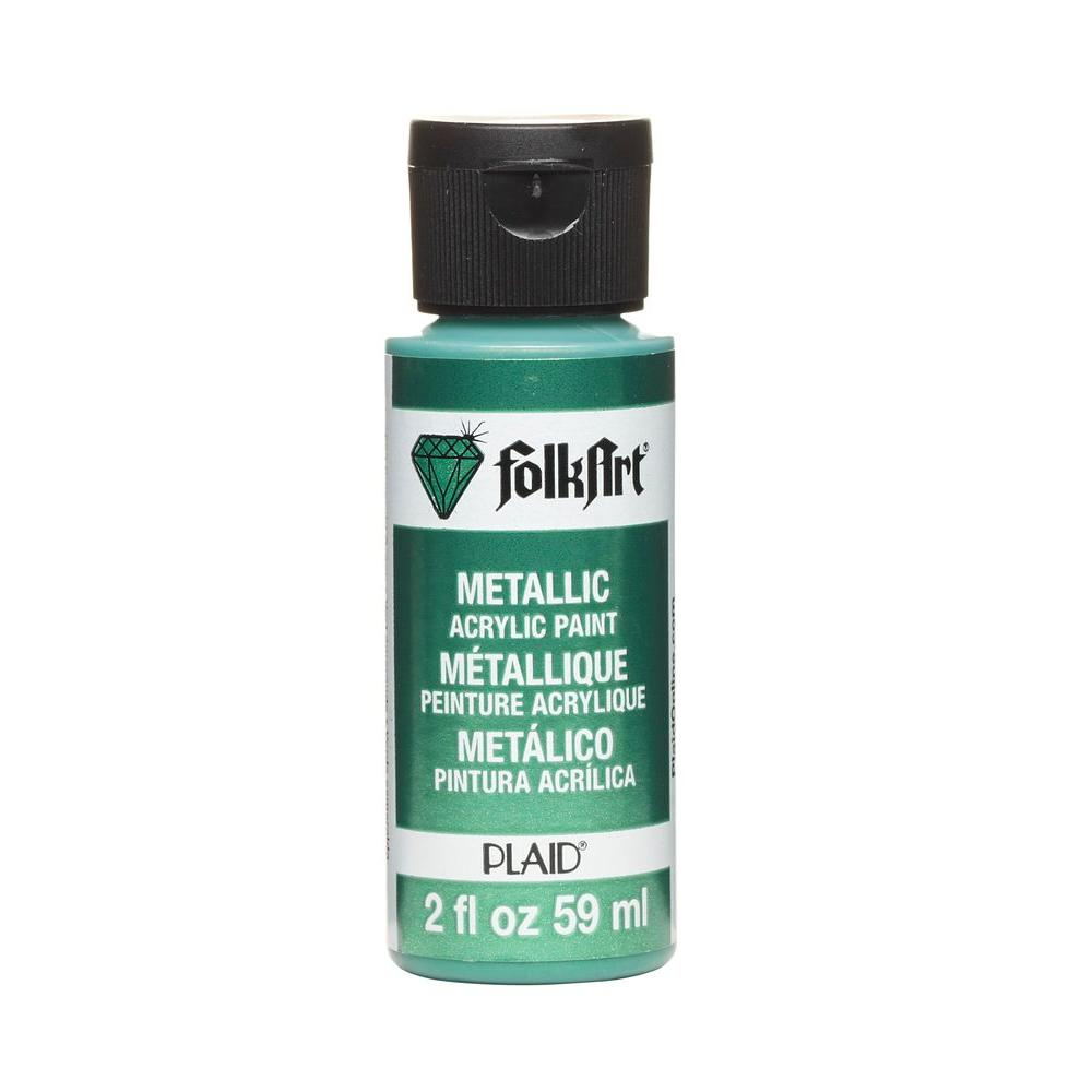 Emerald Green Metallic Craft Paint