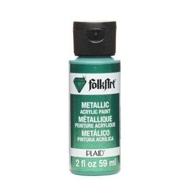 2 oz. Emerald Green Metallic Craft Paint