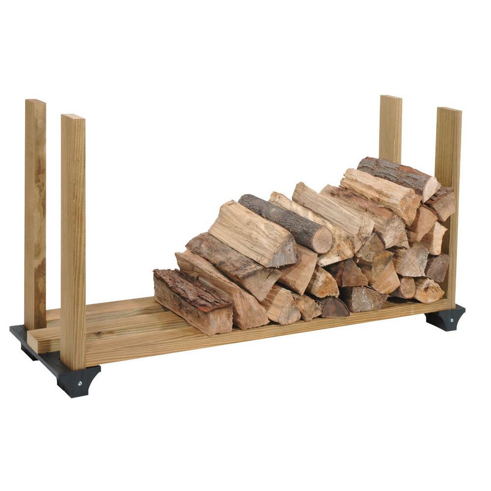 Black Firewood Rack Kit