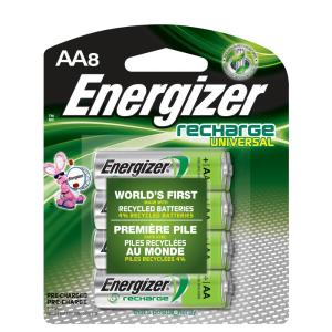 Energizer AA8 1.2-Volt Rechargeable Universal Battery by Energizer