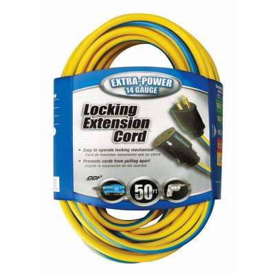 50 ft. 14/3 SJTW Push-Lock Outdoor Heavy-Duty Extension Cord