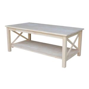 Wonderful International Concepts Hampton Unfinished Coffee Table OT 70C   The Home  Depot