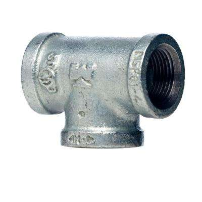 3/4 in. x 1/2 in. x 3/4 in. Galvanized Malleable Iron Reducing Tee