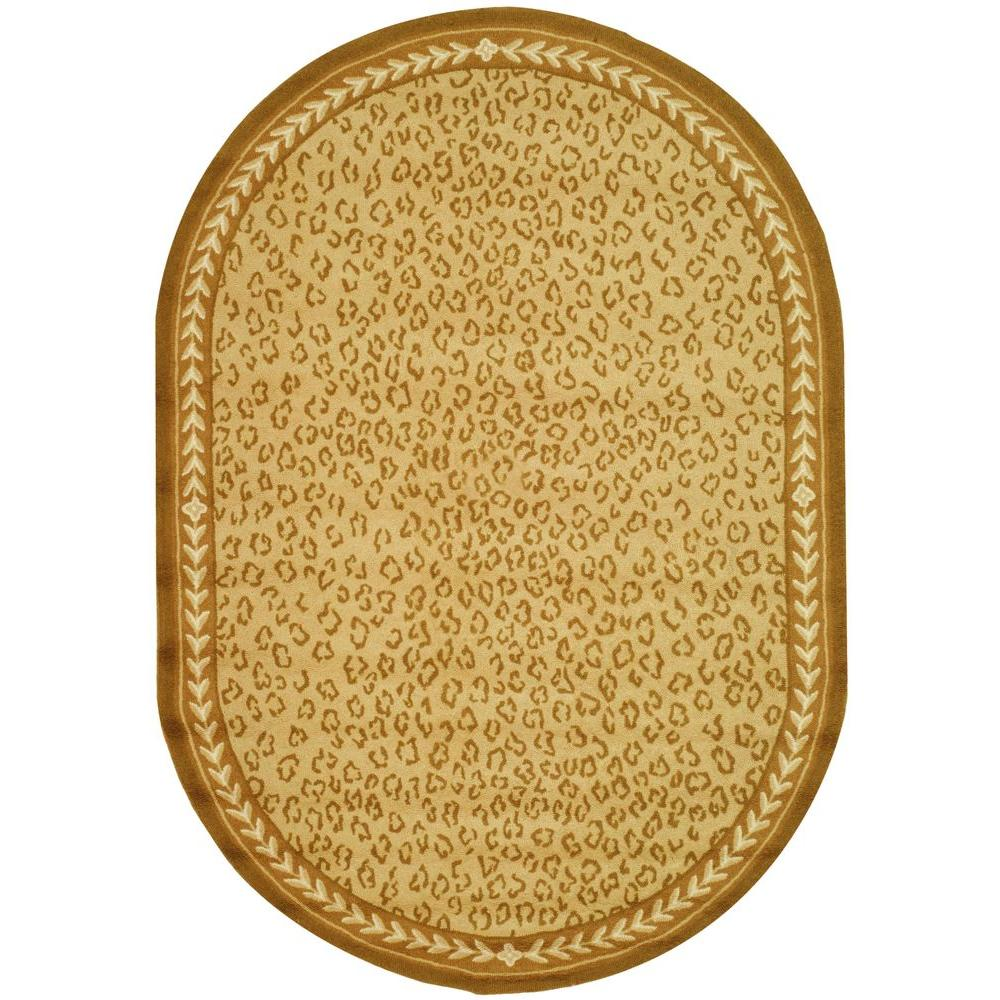 Safavieh Chelsea Ivory 7 ft. 6 in. x 9 ft. 6 in. Oval Area Rug