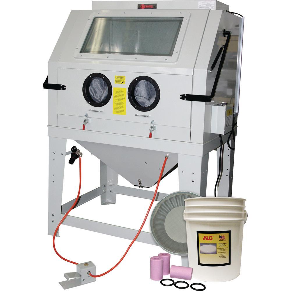 Allsource Industrial Abrasive Blast Cabinet with Starter Kit
