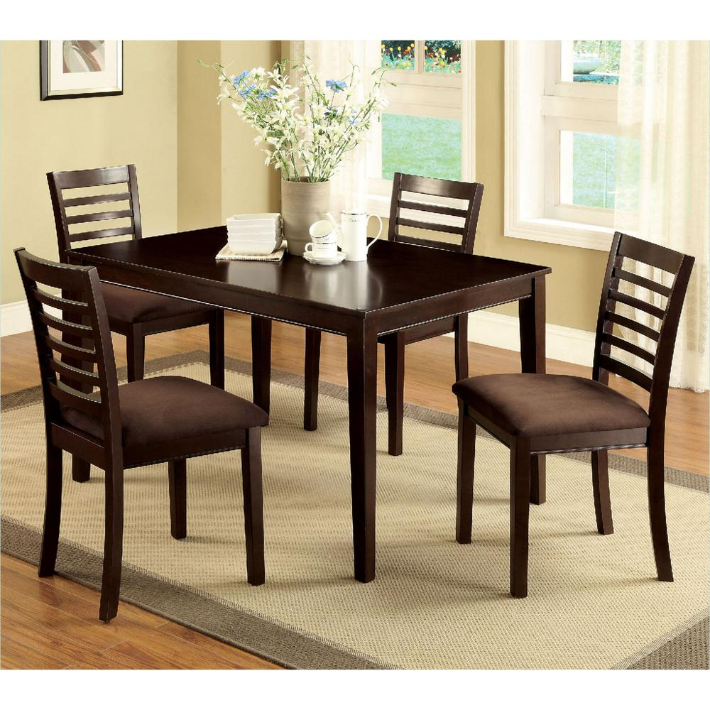 Venetian Worldwide Eaton I 5-Piece Espresso Dining Set