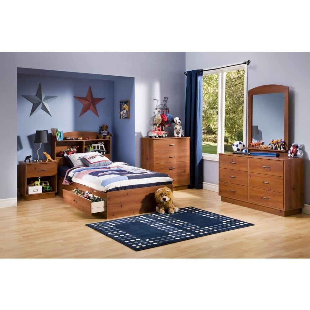 South Shore Logik 2-Drawer Twin-Size Storage Bed in Sunny Pine  sc 1 st  The Home Depot & South Shore Logik 2-Drawer Twin-Size Storage Bed in Sunny Pine ...