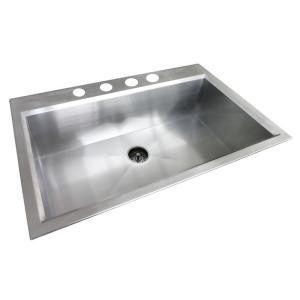 Glacier bay dual mount stainless steel 33 in 4 hole - Glacier bay drop in bathroom sink ...