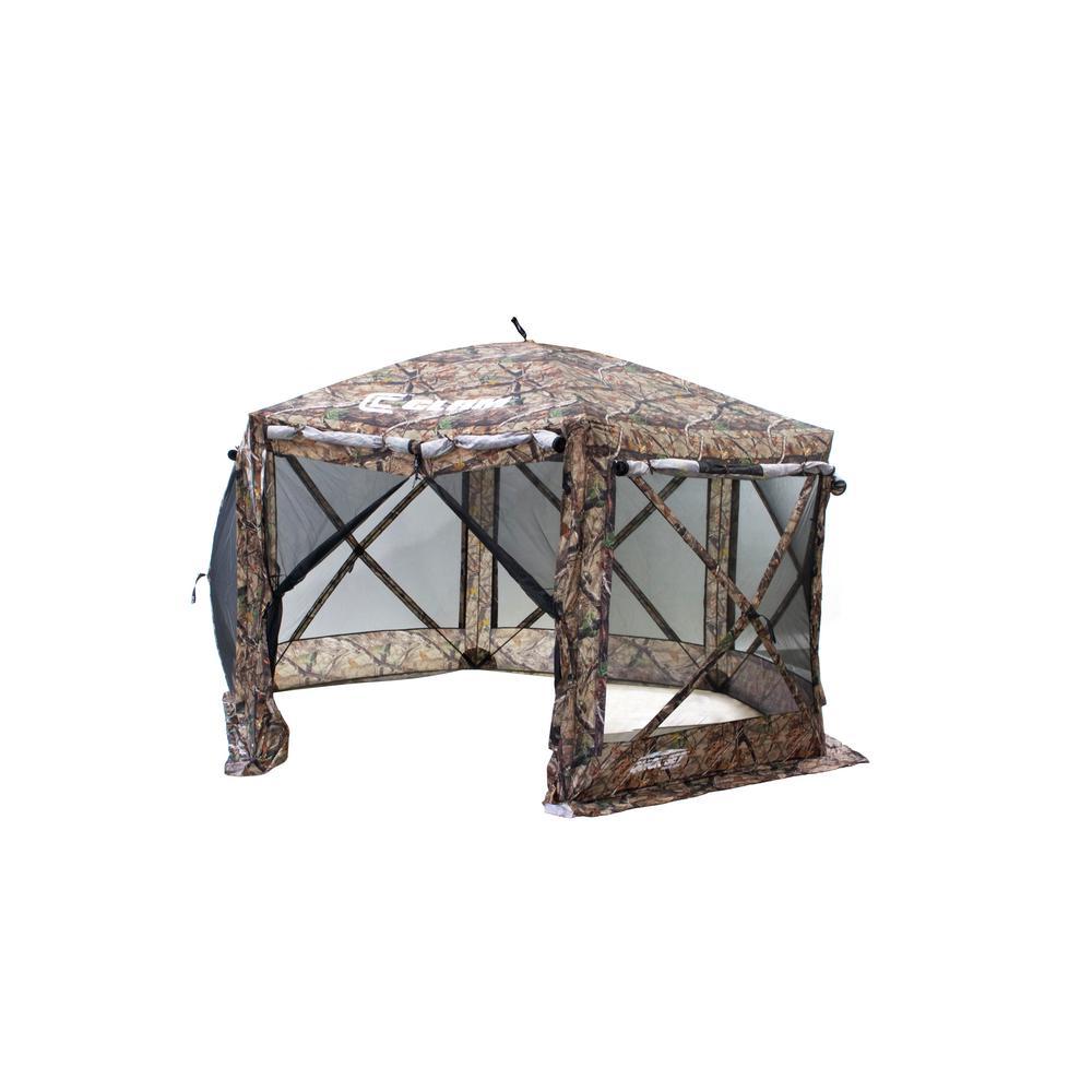 Clam Quick-Set Pavilion 6 Side DLX Camo/Black Mesh  sc 1 st  Home Depot & Clam Quick-Set Pavilion 6 Side DLX Camo/Black Mesh-10810 - The ...