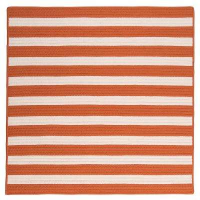 Baxter Tangerine 10 ft. x 10 ft. Square Indoor/Outdoor Braided Area Rug