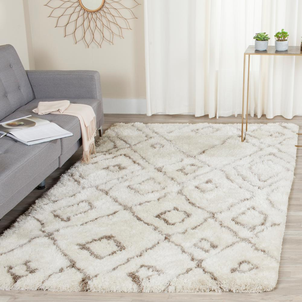 Safavieh Toronto Shag Ivory Light Gray 8 Ft X 10 Ft Area Rug