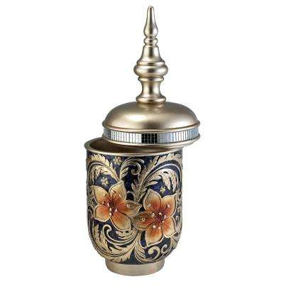 Cherry Blossoms Polyresin Decorative Box with Lid