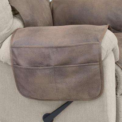 Fawn Faux Leather Furniture Protector treated with NeverWet Recliner