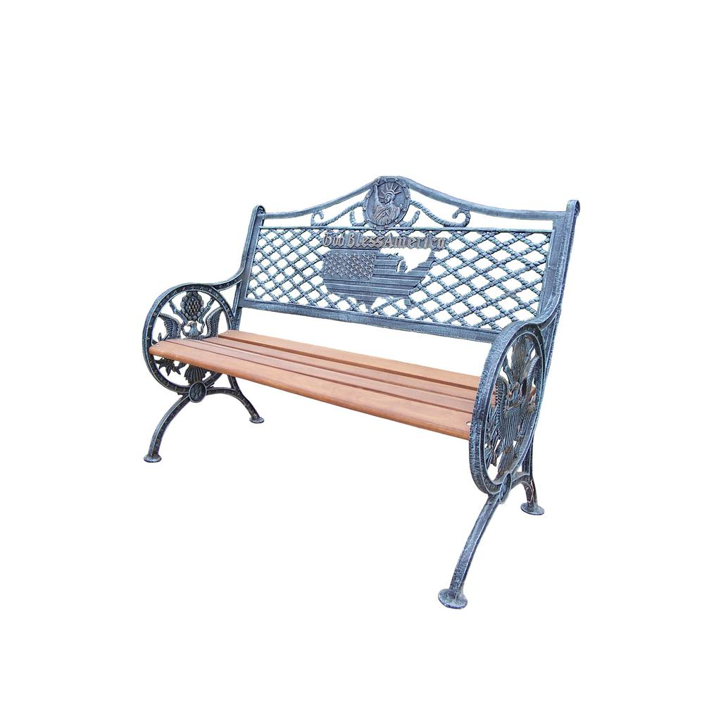 God Bless America Outdoor Bench