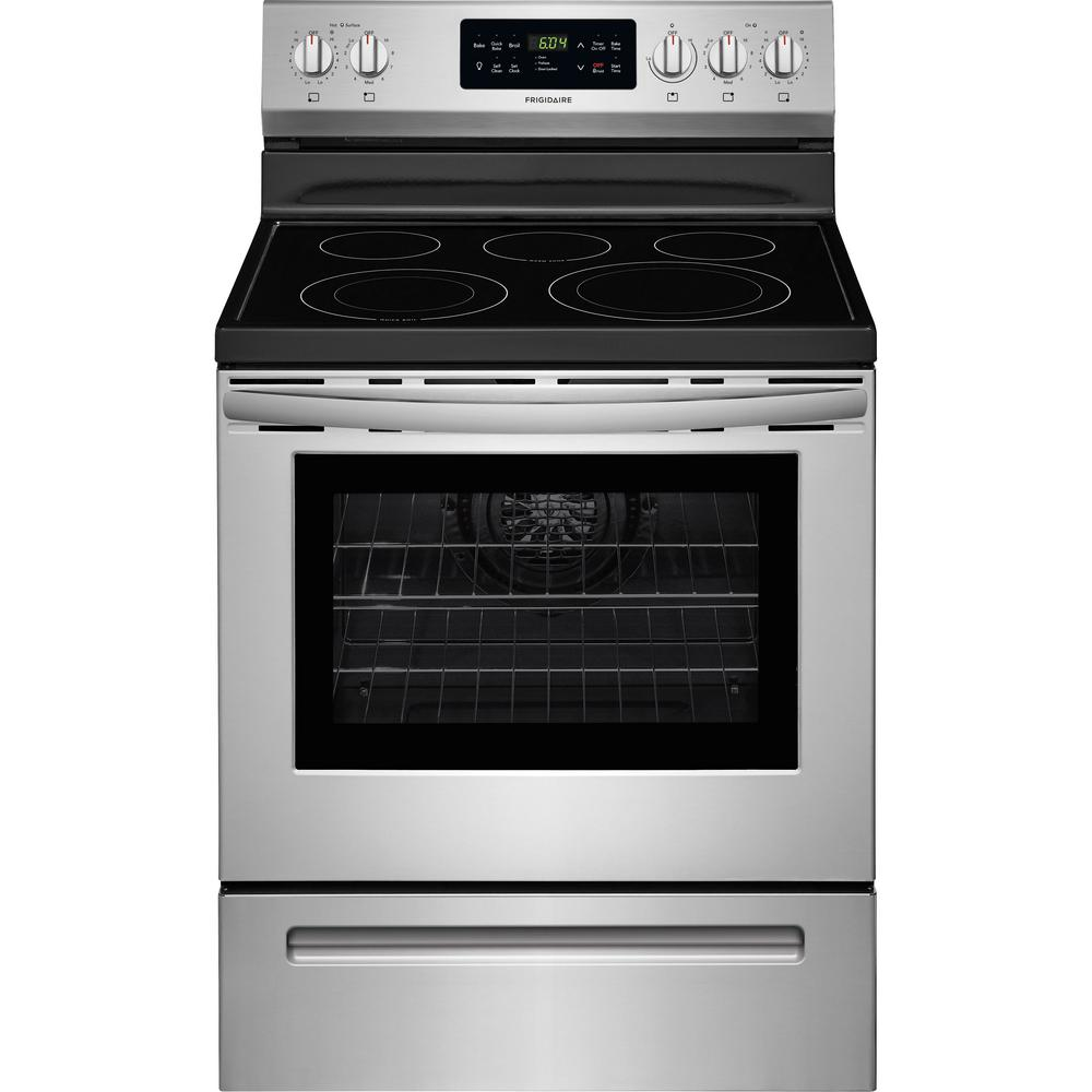 Electric Range With Self Cleaning Quickbake Convection Oven In Stainless Steel