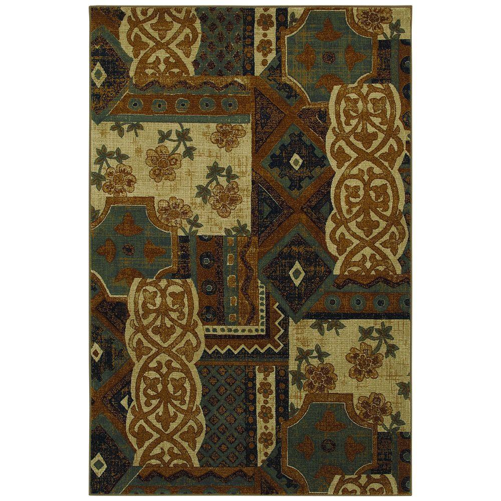 Mohawk Home Royal Entrance Blue 3 ft. 6 in. x 5 ft. 6 in. Area Rug