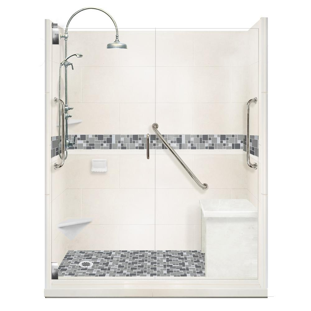 American Bath Factory Newport Freedom Luxe Hinged 32 in. x 60 in ...