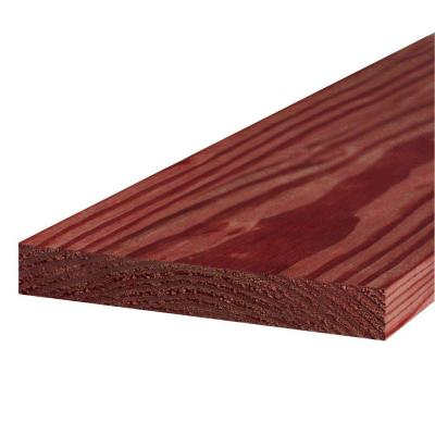 WeatherShield 1 in  x 12 in  x 8 ft  Pressure-Treated Board