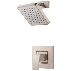 Kenzo 1-Handle 1-Spray Shower Only Trim Kit in Brushed Nickel (Valve Not Included)