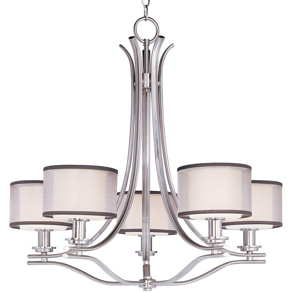 Orion 5-Light Satin Nickel Chandelier