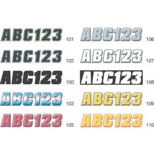 2 inch Factory Matched Snowmobile Registration Kits in Black/Kiwi Green by
