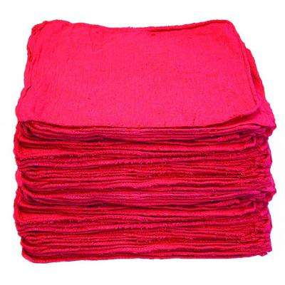 Red Cotton Shop Towels (Count of 288)