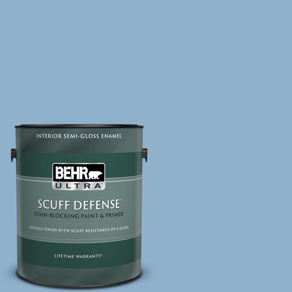 Behr Ultra 1 Gal M510 3 Sailors Knot Extra Durable Semi Gloss Enamel Interior Paint Primer 375401 The Home Depot