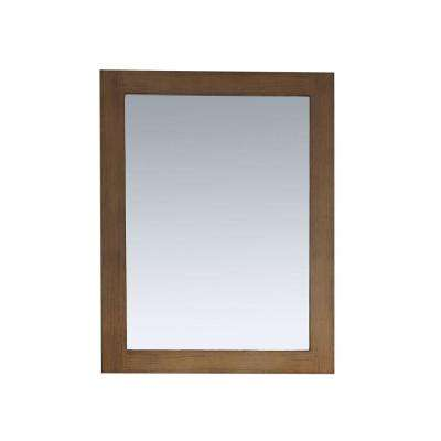 Daniel 22 in. x 30 in. Framed Wall Mirror in Nutmeg