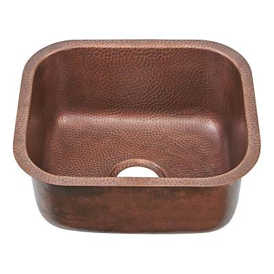 Sisley Pro Undermount Copper 19 in. Single Bowl Prep Sink in Hammered Antique Copper