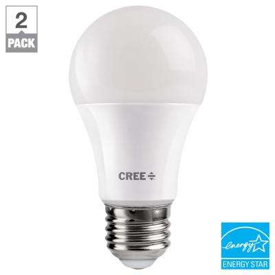 40W Equivalent Soft White (2700K) A19 Dimmable Exceptional Light Quality LED Light Bulb (2-Pack)