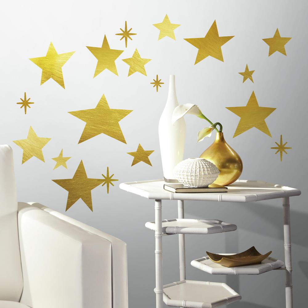 5 in. x 11.5 in. Star 33-Piece Peel and Stick Wall