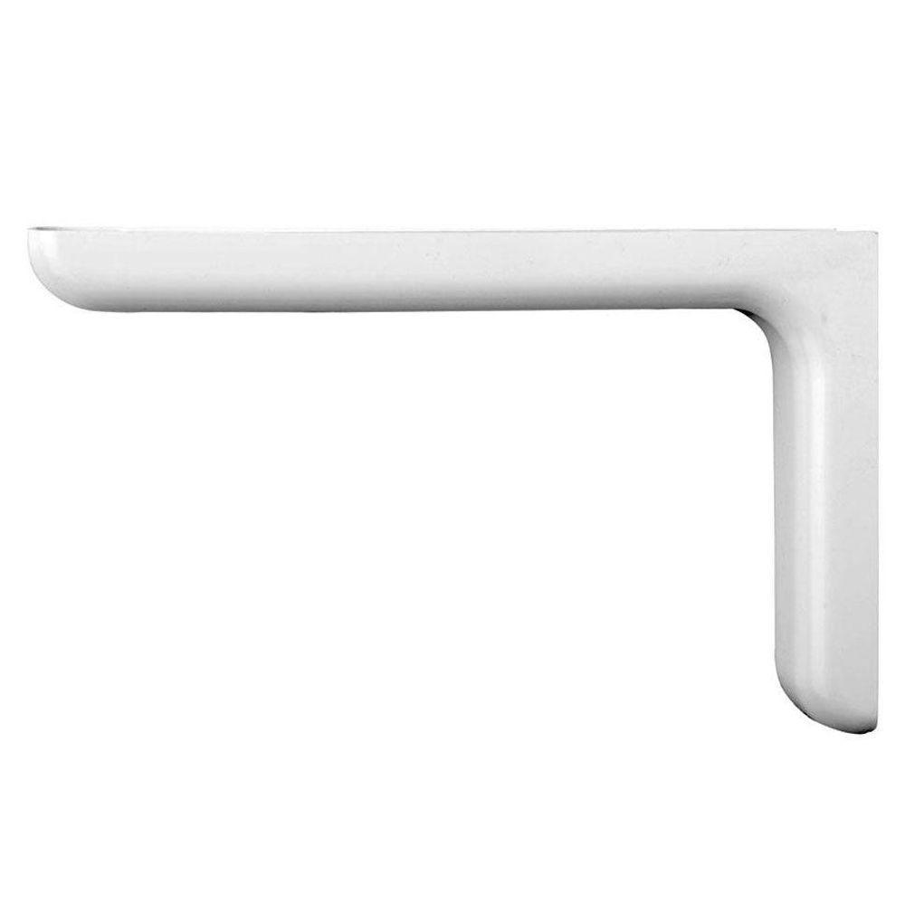 7.1 in. x 4.5 in. White Designer Shelf Bracket