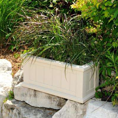 Cape Cod 24 in. x 11 in. Clay Plastic Planter