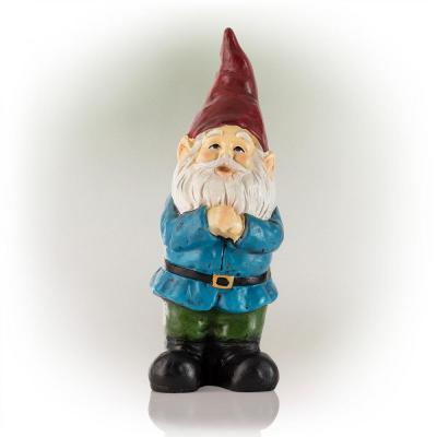 12 in. Bearded Garden Gnome Statue with Red Hat (4 Pack)