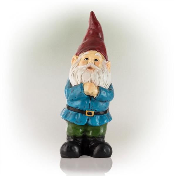 12 in. Bearded Garden Gnome Statue with Red Hat (4-Pack)
