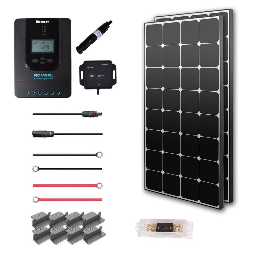 200-Watt 12-Volt Monocrystalline Off-Grid Eclipse Solar Premium Kit