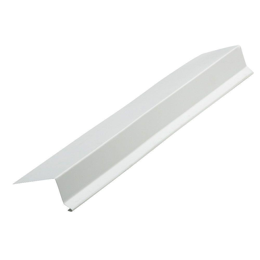 2 in. x 10 ft. White Steel Hemmed Drip Edge Flashing