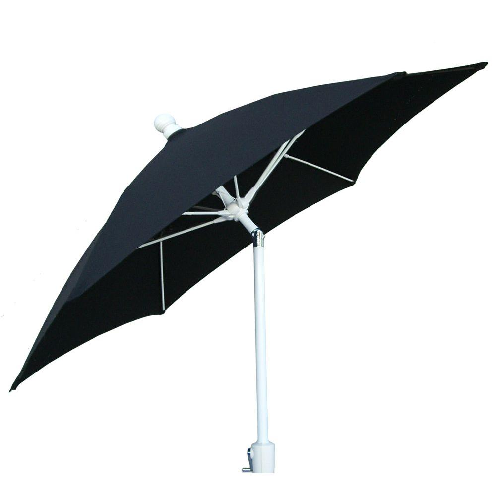 9 ft. Aluminum Patio Umbrella with Black Acrylic