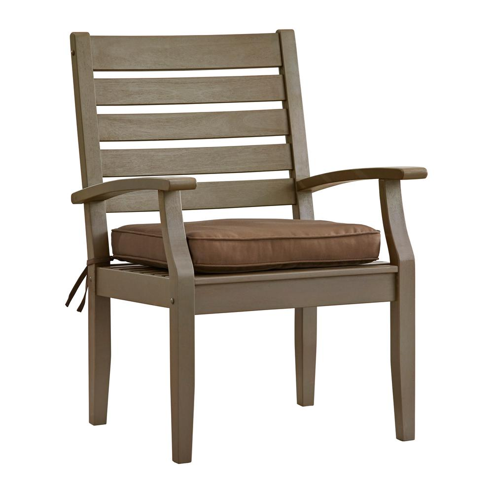 Leahlyn Reddish Brown Arm Chair Set Of 2: HomeSullivan Verdon Gorge Gray Oiled Wood Outdoor Dining