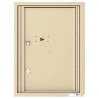 Versatile 6 High 1-Parcel Locker Wall-Mount 4C Mailbox Suite