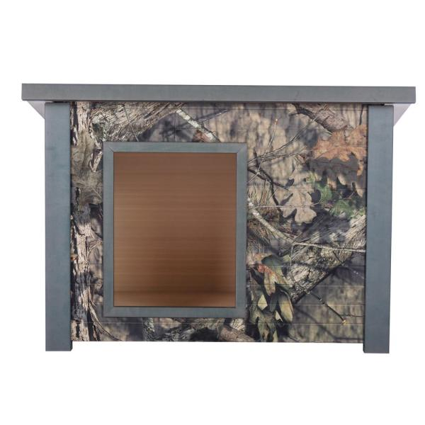 ECOFLEX Rustic Mossy Oak Style Dog House - Medium