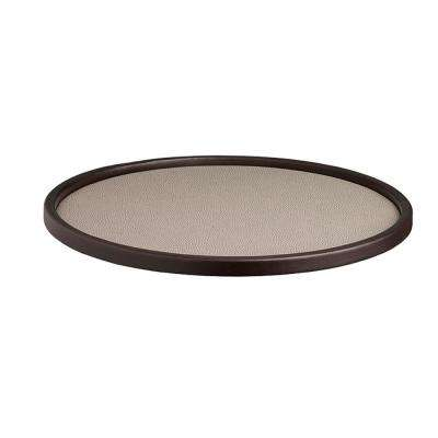 Cosmopolitan 14 in. Round Serving Tray in Latte