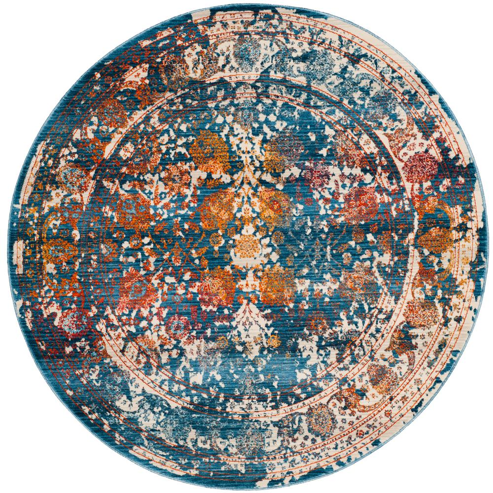 Safavieh Vintage Turquoise And Multi Colored Area Rug: Safavieh Vintage Persian Turquoise/Multi 5 Ft. X 5 Ft